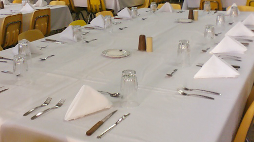 Table Preparation to Service